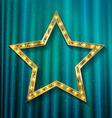 transparent golden star vector image