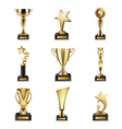 Trophy Awards Realistic Set vector image