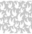 white dove in the air seamless pattern eps10 vector image