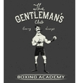 Vintage old poster with boxer vector image vector image