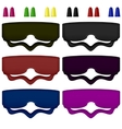 Colored Sleeping Masks vector image