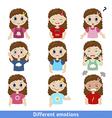 Girl faces vector image