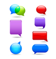 Set of colorful speech bubbles vector image