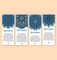 banners paisley or mandala ornaments vector image