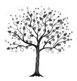 black tree with circles vector image