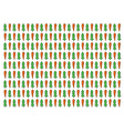 Carrot and fir pattern vector image