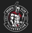 gladiator emblem vector image