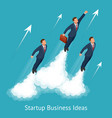 isometric startup business innovation vector image