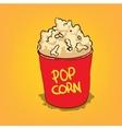 Popcorn in a bucket vector image