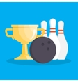 set of bowling icons vector image