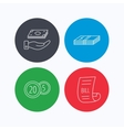 Save money cash money and bill icons vector image