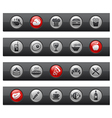 Food 1 Buttons vector image