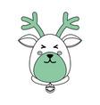 christmas reindeer cartoon vector image