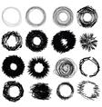 1989hand drawn circles vector image