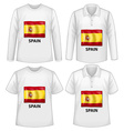 Spain shirts vector image