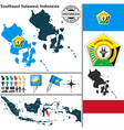 Map of Southeast Sulawesi vector image