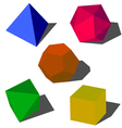 Colorfull 3d geometric shapes vector image
