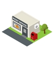 isometric flat post office and mail box vector image
