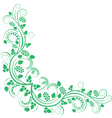 floral decorative corner green vector image vector image