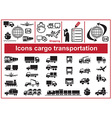 Icons cargo transportation vector image