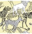 Seamless pattern savanna animals vector image