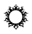 abstract isolated sun vector image