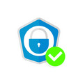 abstract security icon vector image