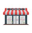 flat icon of duty free shop facade at vector image