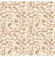 Hand drawn italian cuisine pasta seamless vector image