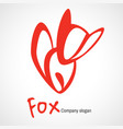 logo with orange fox vector image