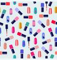pattern of colorful nail polish bottles vector image