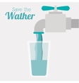 save the water design vector image