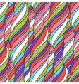 Seamless wave abstract hand drawn pattern vector image