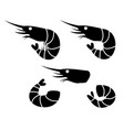 shrimp and prawn icons object vector image