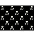 skull halloween pattern vector image