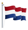 waving netherlands flag isolated on a white vector image