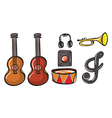 Various musical instruments vector image