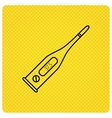 Electronic thermometer icon Measurement tool vector image