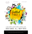 Cocktail party poster design vector image