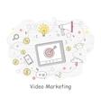Video Marketing Banner vector image