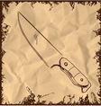 Knife icon on vintage background vector image vector image