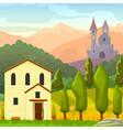 square medieval landscape vector image vector image