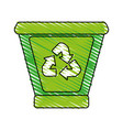 Garbage can with recycle arrows icon image vector image