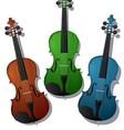 Colored violins vector image
