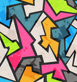 Grunge colored graffity seamless pattern vector image