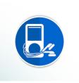 mp3 player - Original design icon screen stereo vector image