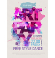 Art party poster vector image