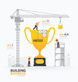 Infographic business trophies shape template desig vector image vector image
