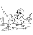 Penguins Coloring Pages vector image