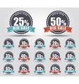 Set of labels for sale vector image